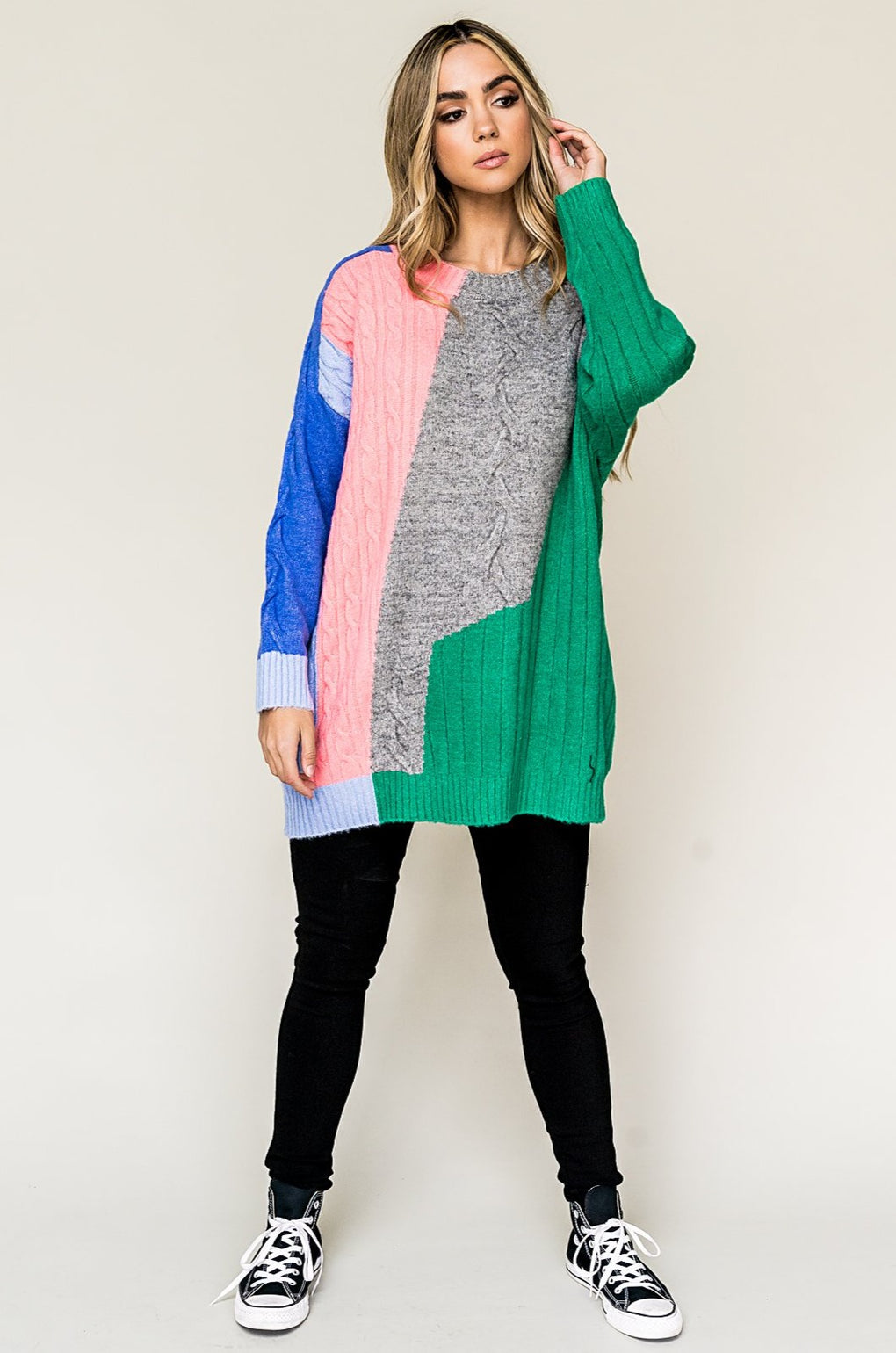 My Muse Oversized Colorblock Knit