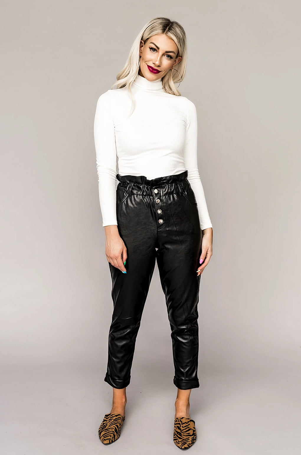 City Chic Vegan Leather Pants