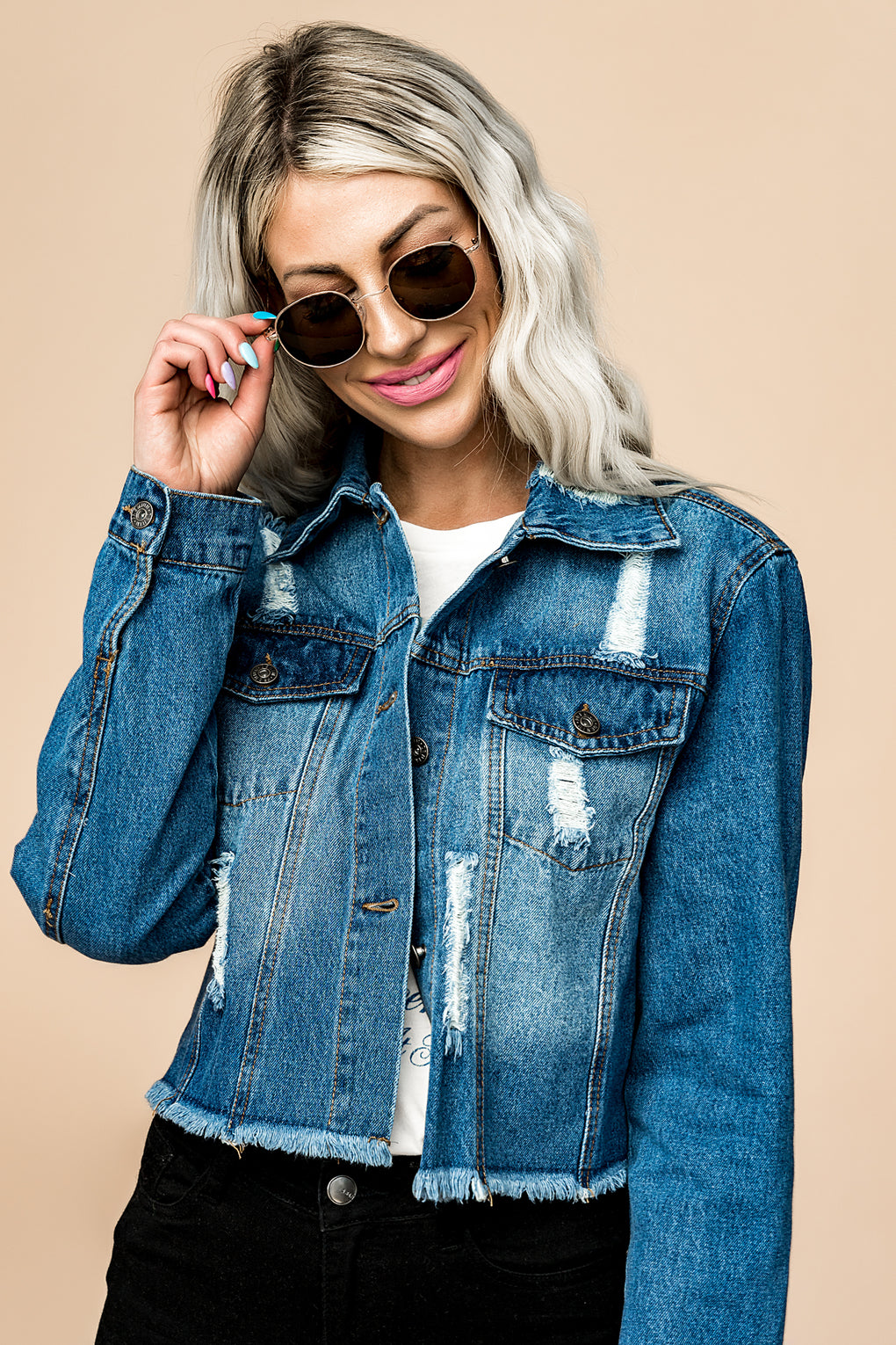 Fulton Cropped Denim Jacket