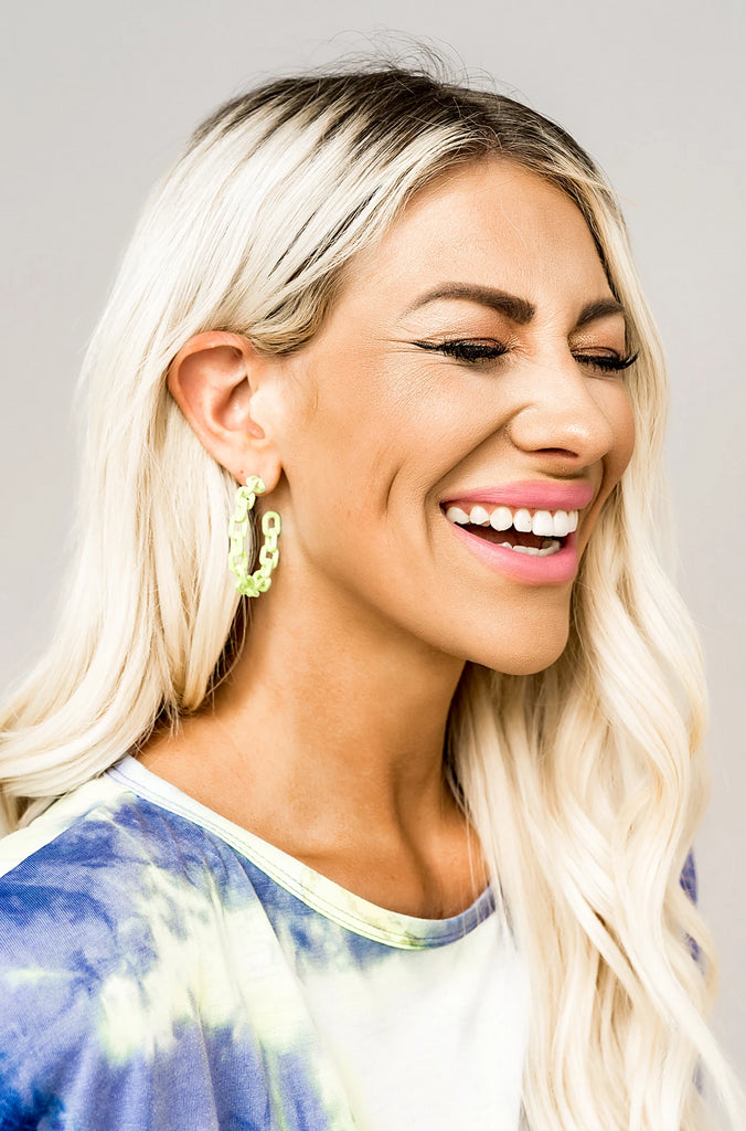 Neon Chain Earrings