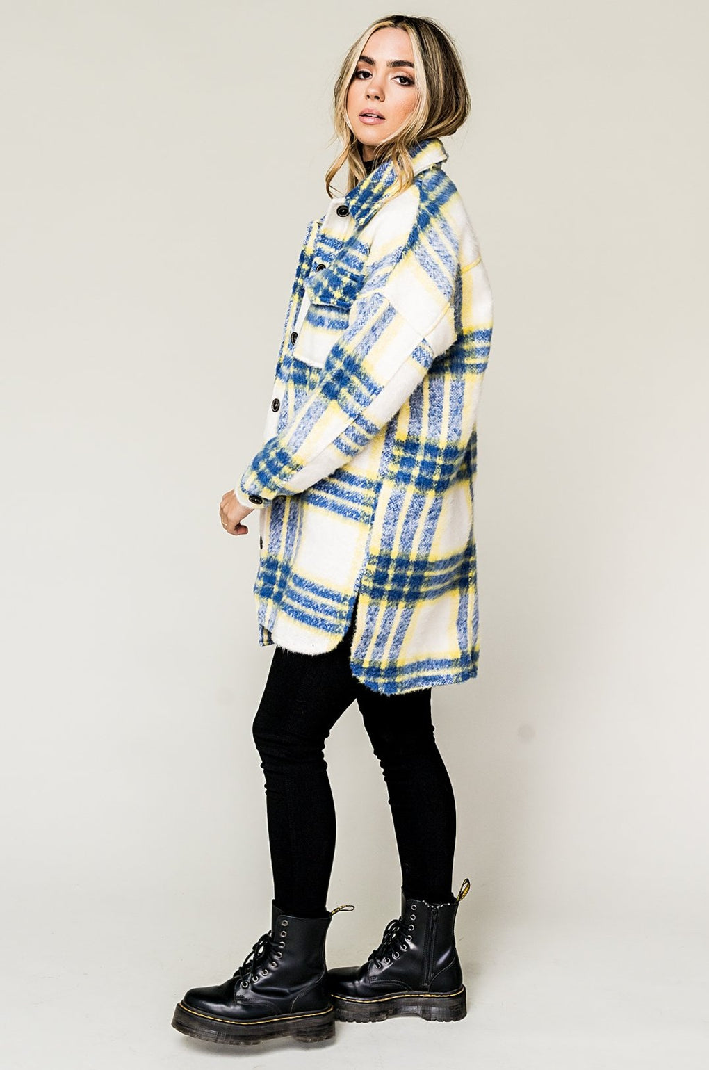 Scorpio Season Oversized Plaid Grunge Jacket