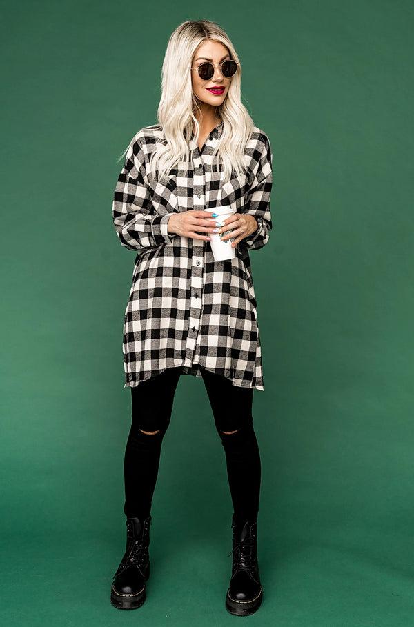 Josie Flannel in Black and White
