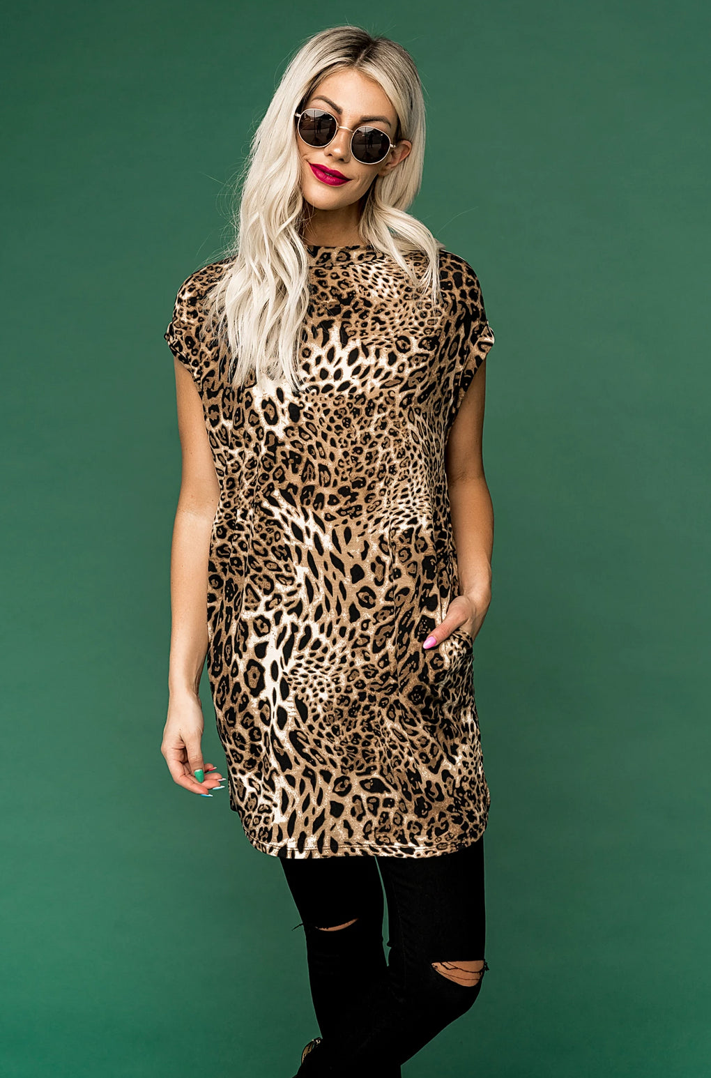 Get Obsessed Leopard Tunic