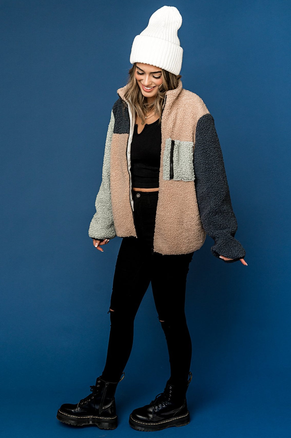 Fleetwood Sherpa Colorblock Coat