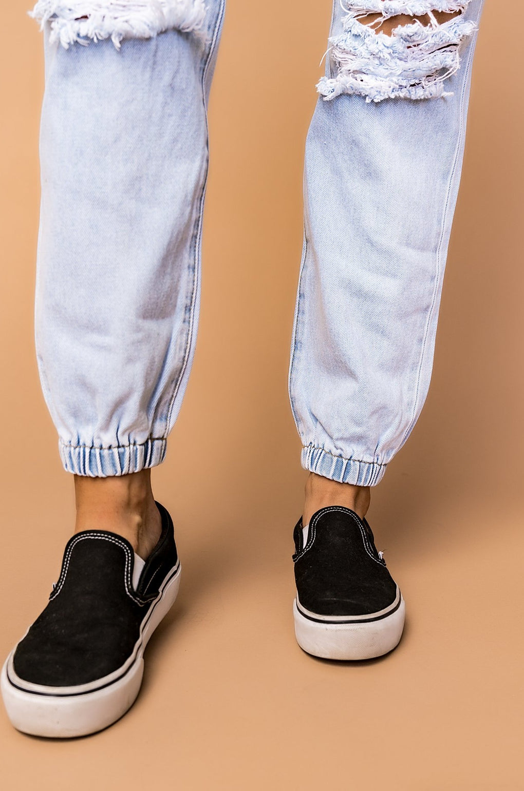Sydney Distressed Denim Joggers
