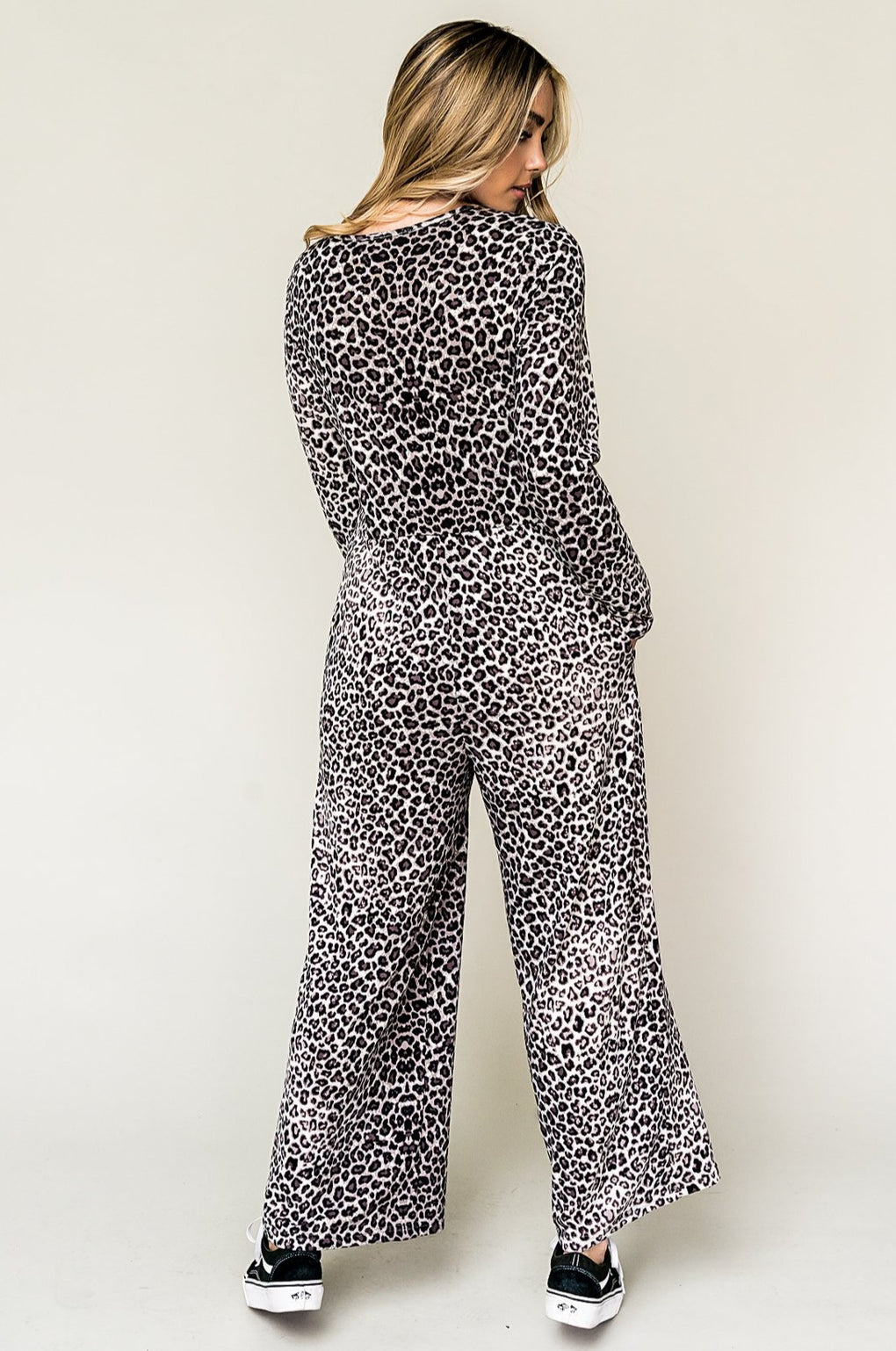 Feel The Love Wide Leg Leopard Jumpsuit