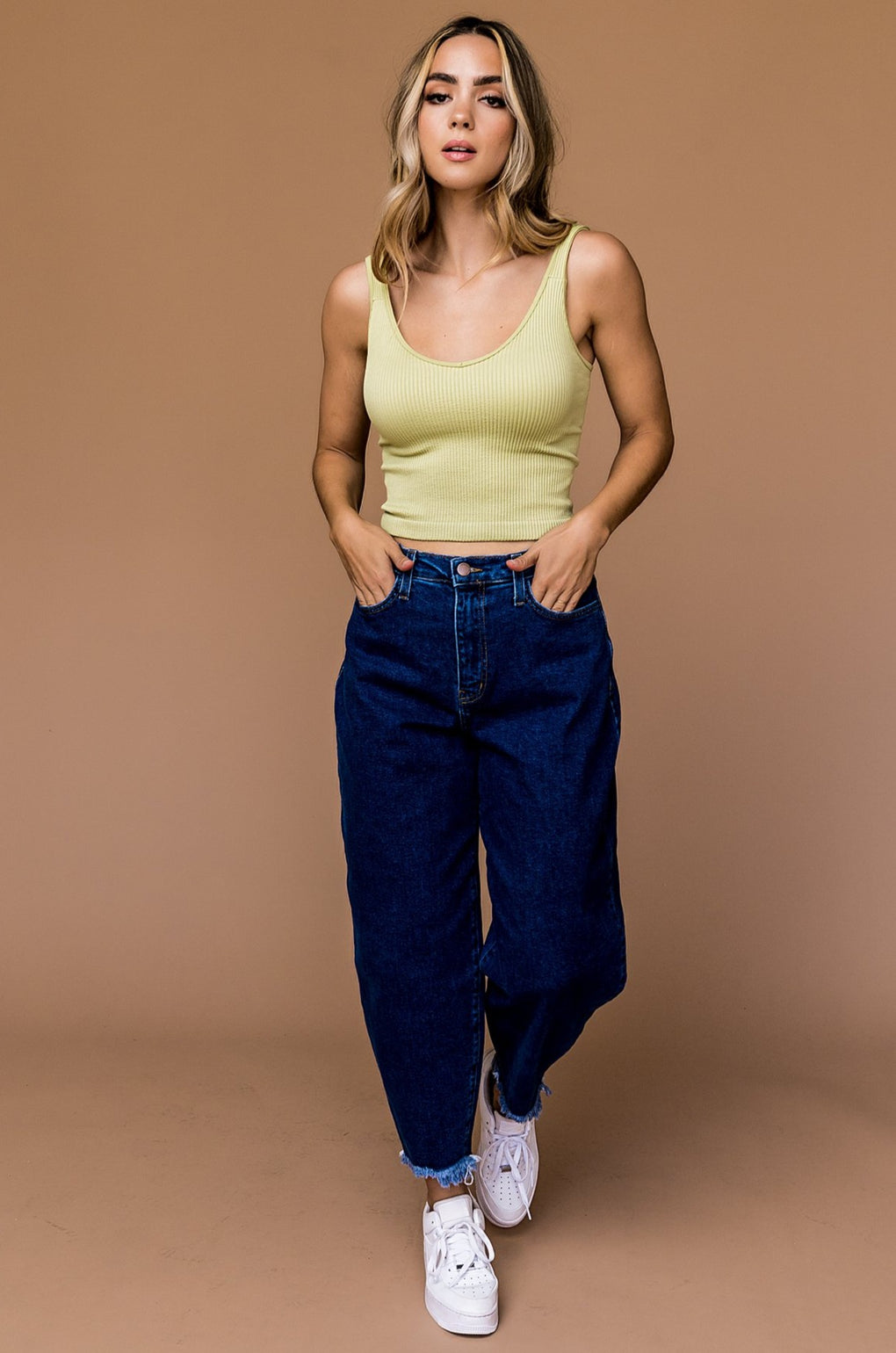 Stevie Slouch Mom Jeans in 90s Blue