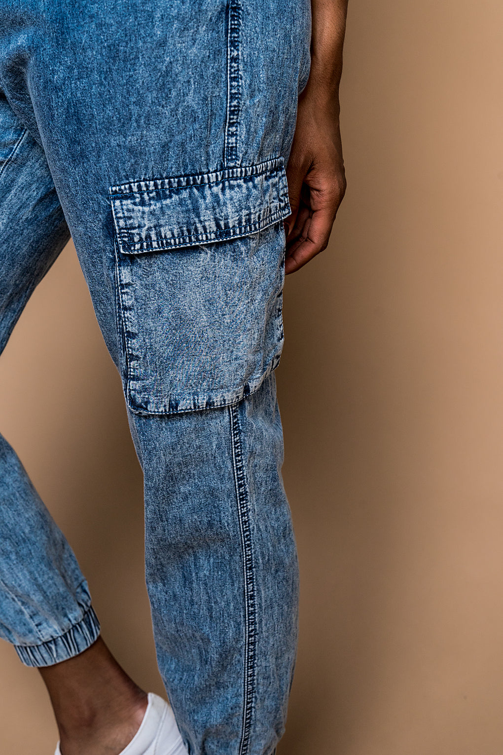 Hannah Medium Acid Wash Denim Joggers