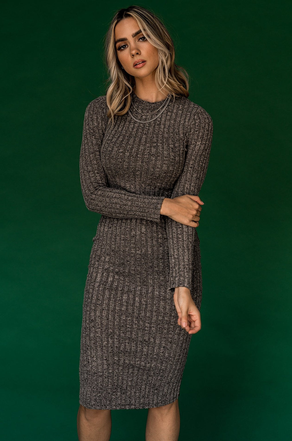 The Met Bodycon Dress in Charcoal