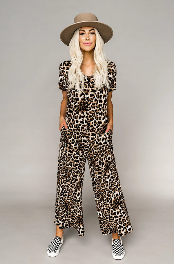 Live Out Loud Leopard Jumpsuit