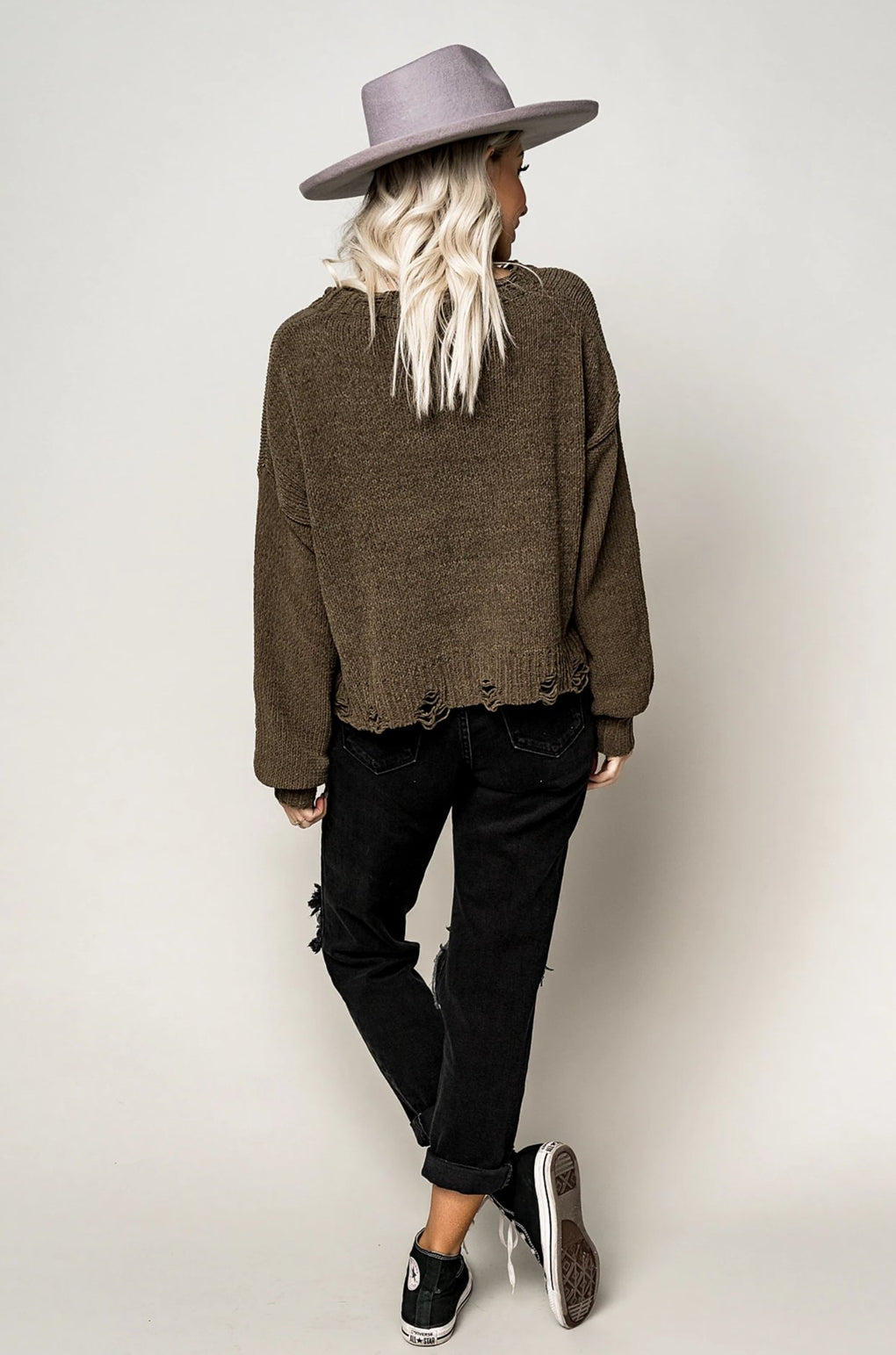 Liv Distressed Sweater