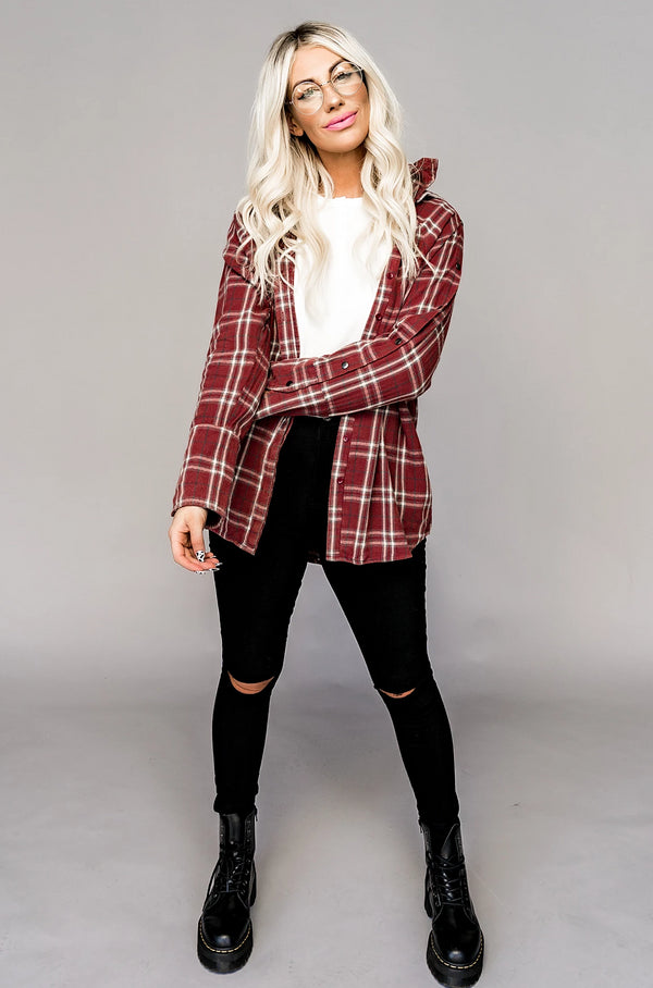 Hudson Hooded Flannel