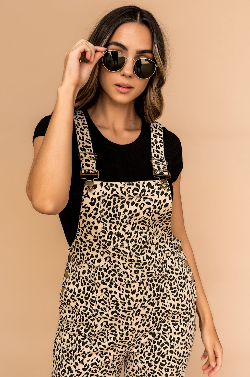 Girl Crush Leopard Overalls