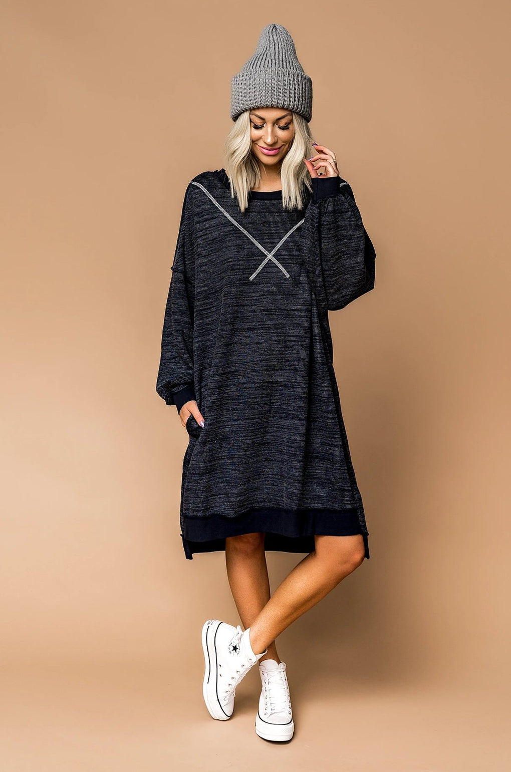Blue Mood Oversized Sweater Dress