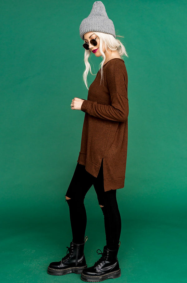Brown Sugar Pullover Sweater