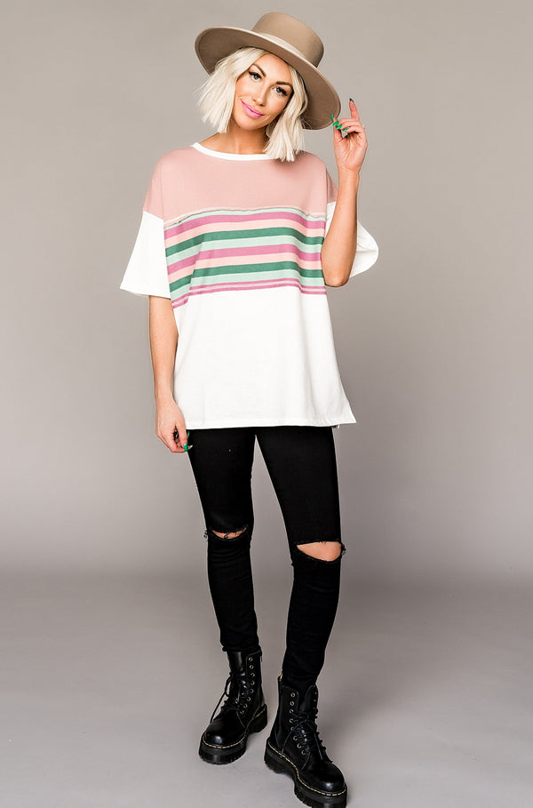 Delilah Striped Top