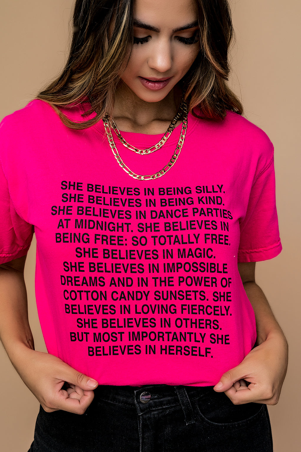 LALA ORIGINAL DESIGN: She Believes Tee