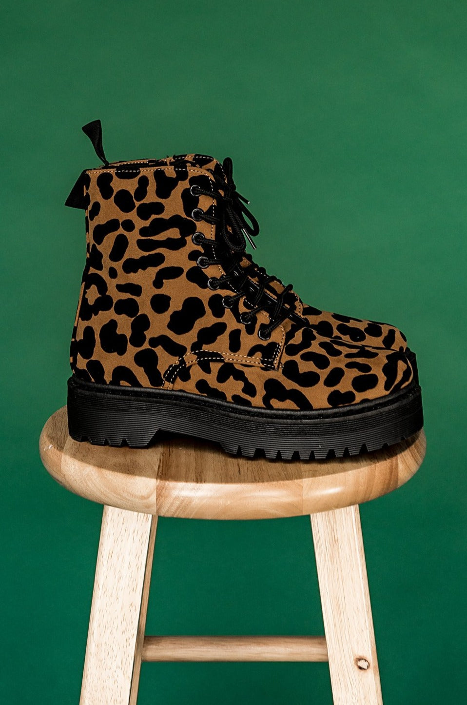 Born To Be Wild Leopard Platform Boots