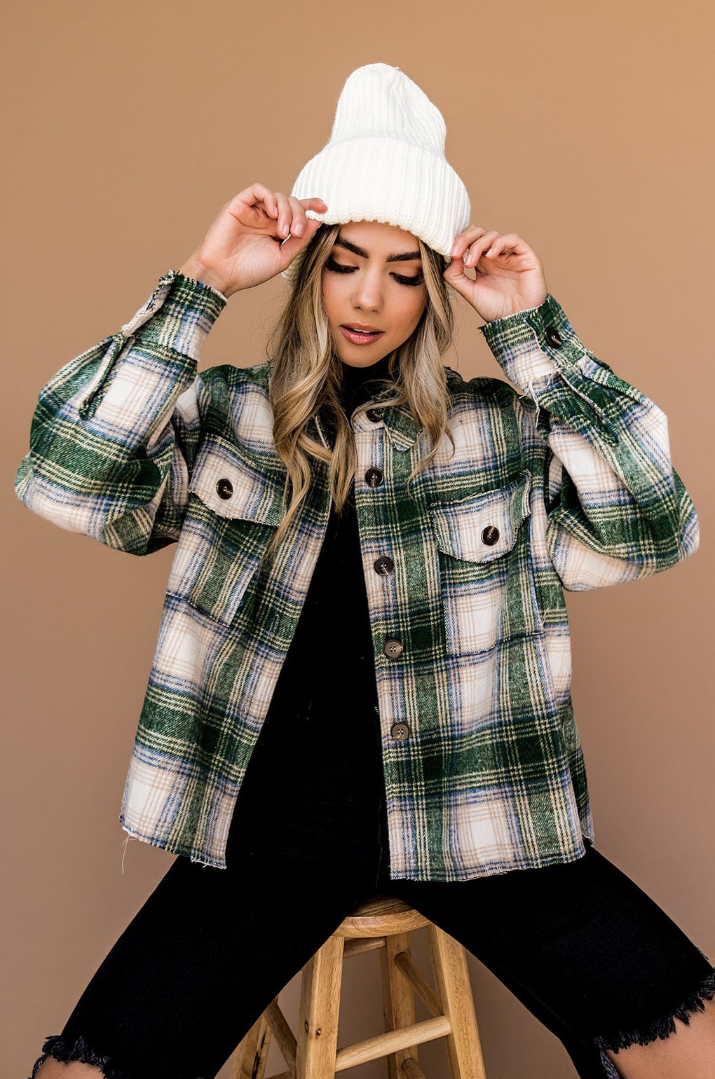 Virgo Plaid Grunge Jacket