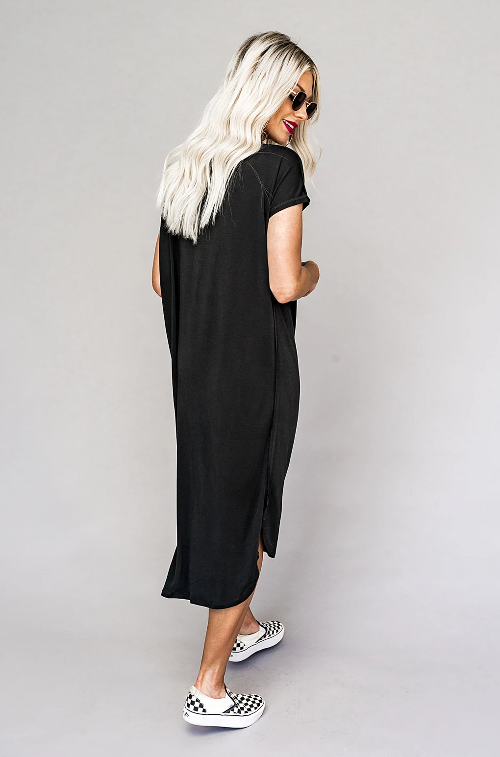 Obsessed Black T-shirt Dress