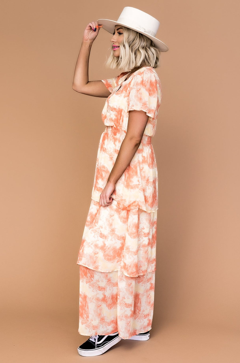 Sunrise Sunset Tie Dye Maxi Dress
