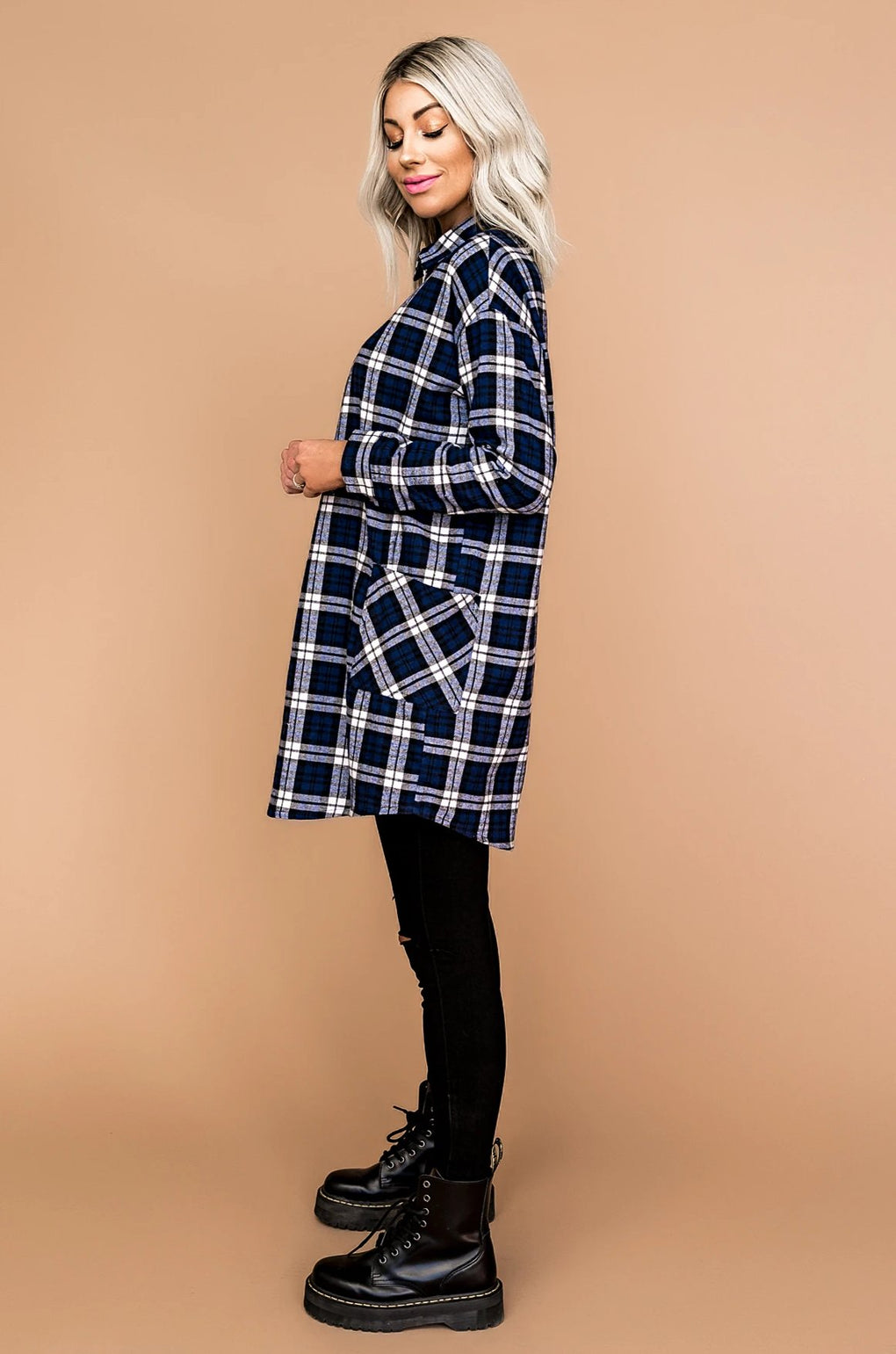 Saturdaze Plaid Grunge Tunic