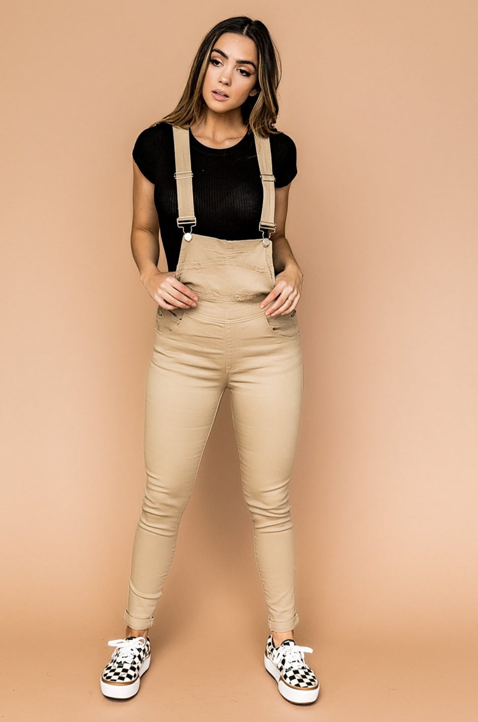 City Girl Overalls in Taupe