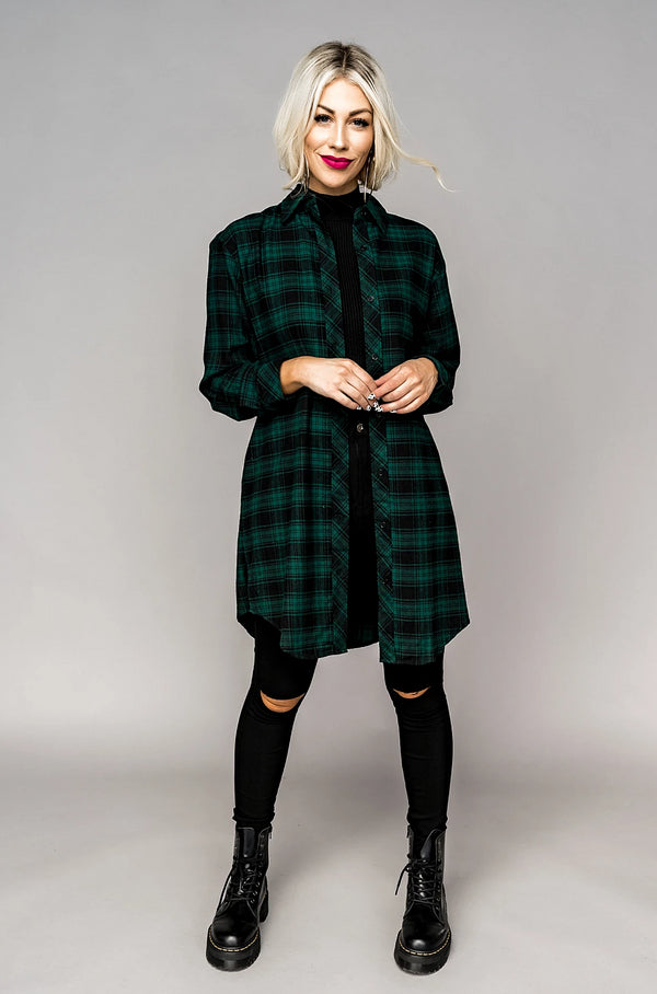 Lou Hunter Green Flannel