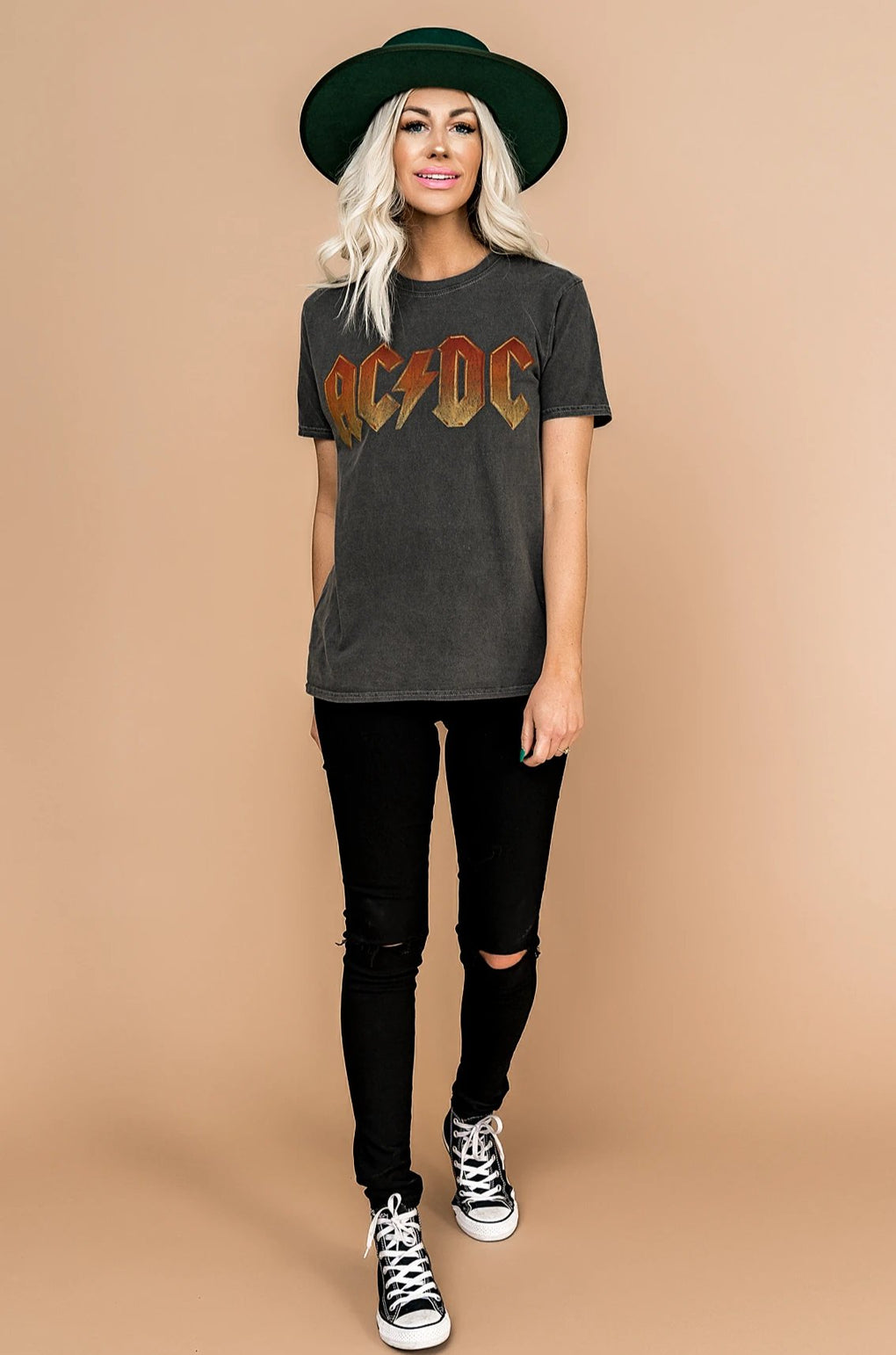 Back in Black AC/DC Band Tee