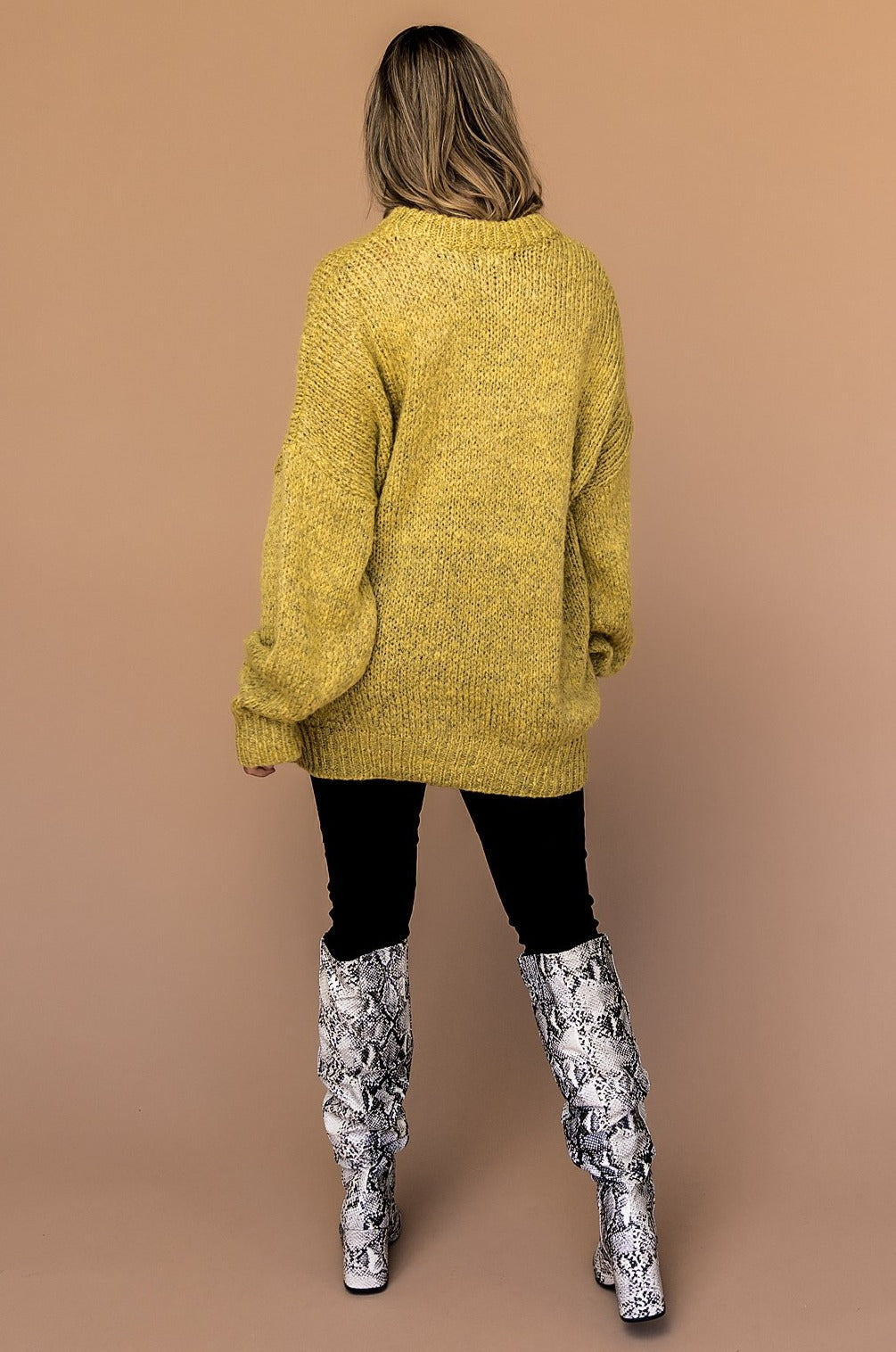Fall in Love Oversized Knit in Honey