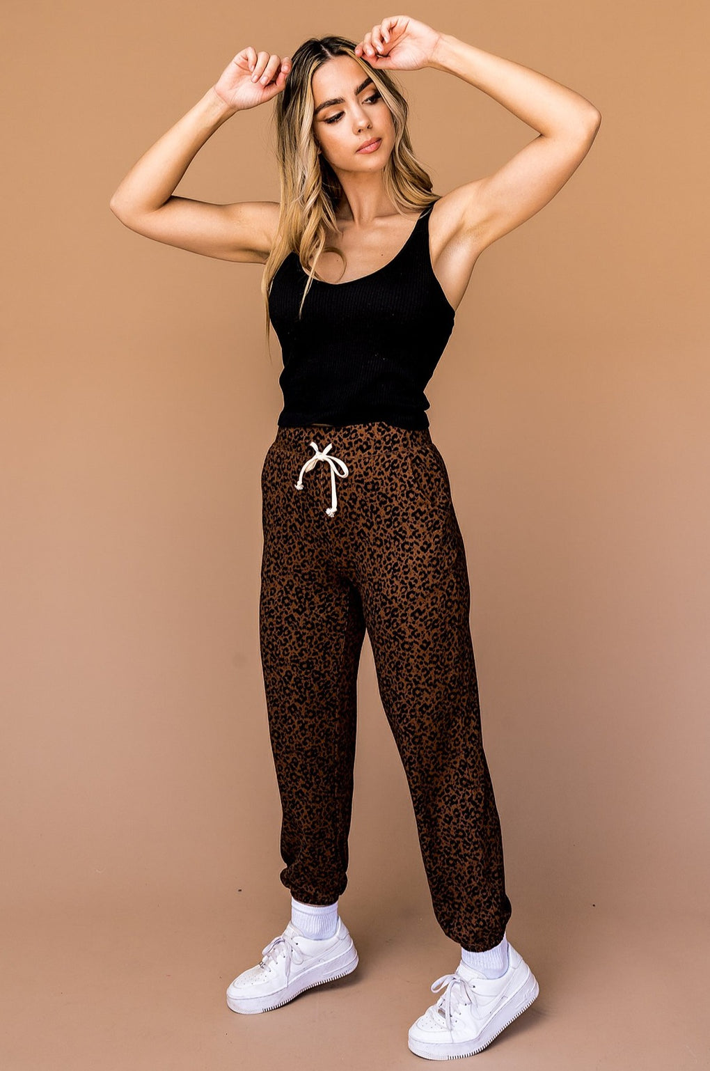 Time To Shine Leopard Joggers