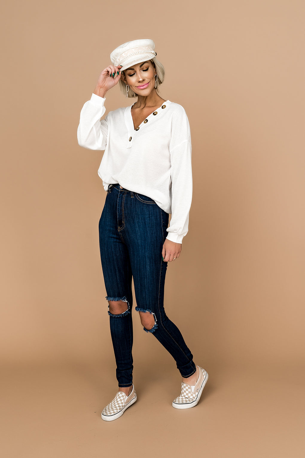 Ramona Distressed Skinnies