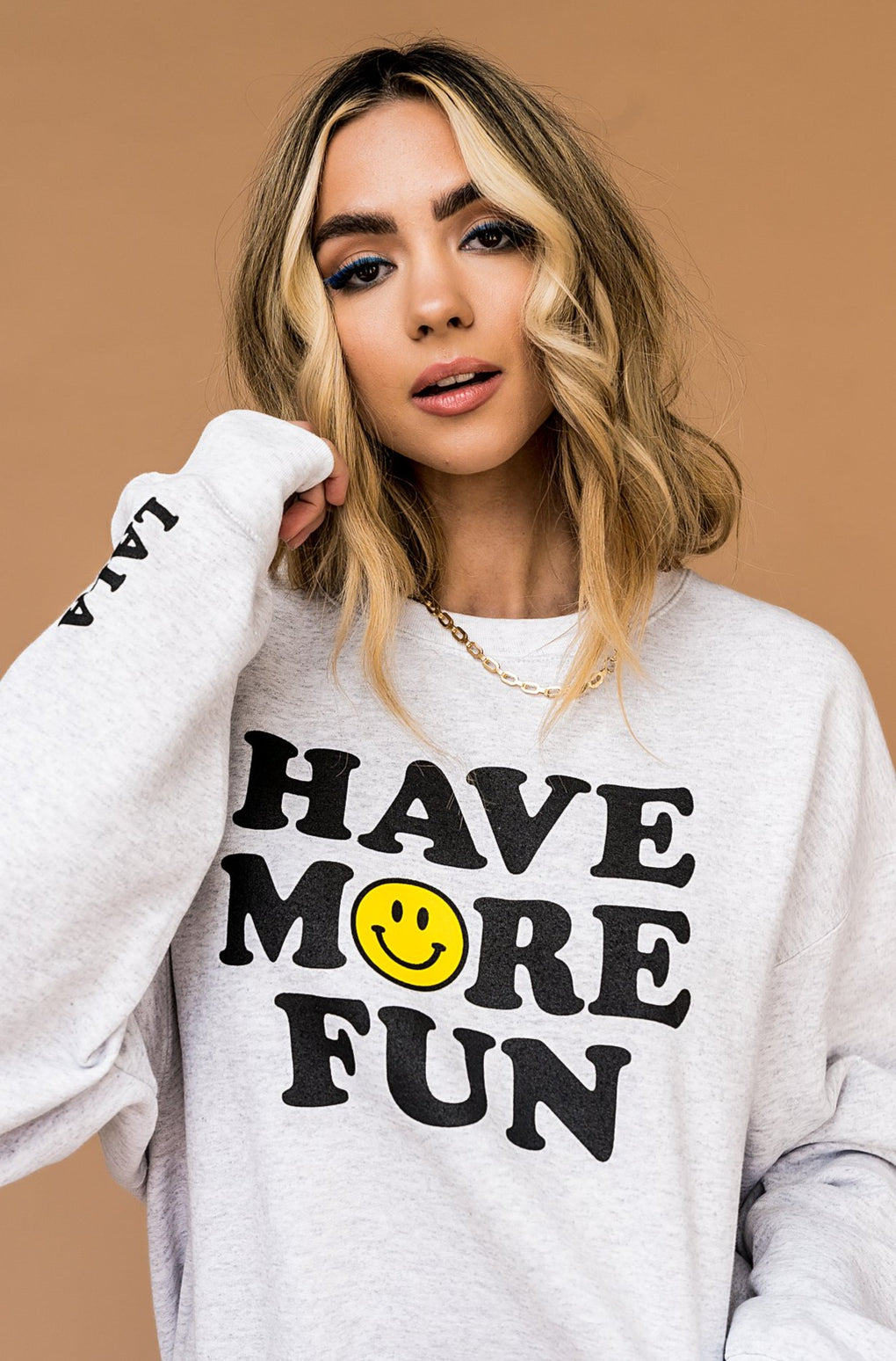 LALA ORIGINAL DESIGN: Have More Fun Pullover *RESTOCK COMING JAN 2021*