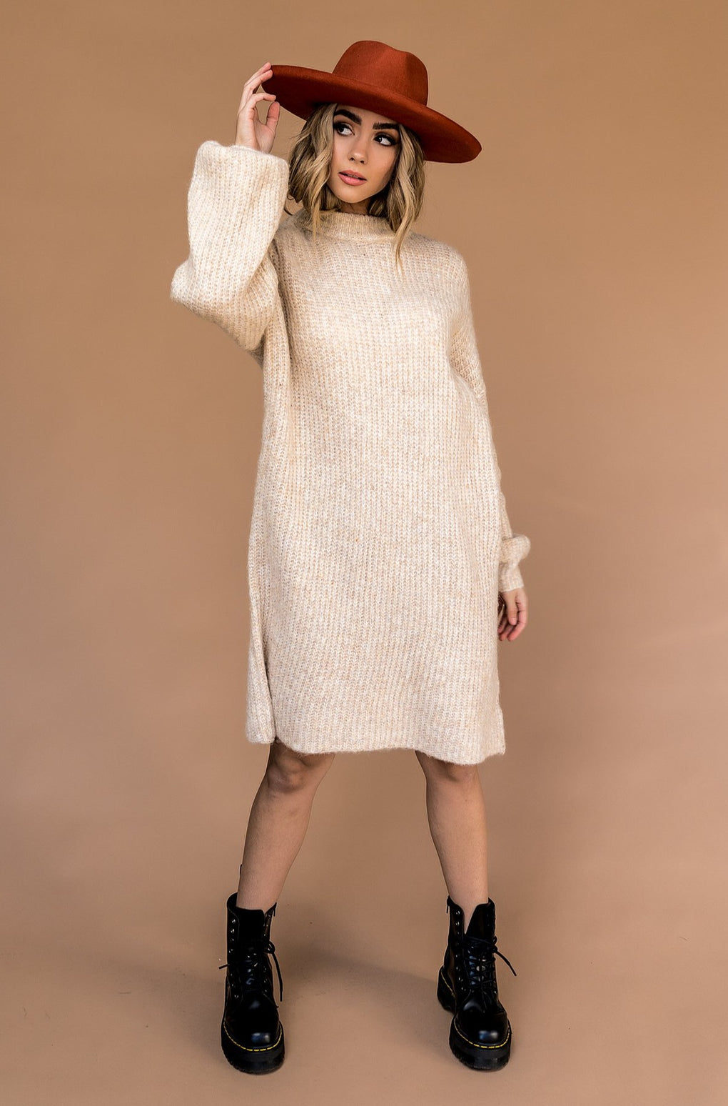 Iggy Bubble Sleeve Knit Dress