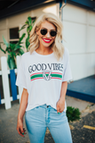 Good Vibes Gucci-Inspired (White) Tee