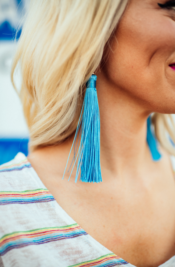 Oceanside Tassel Earrings
