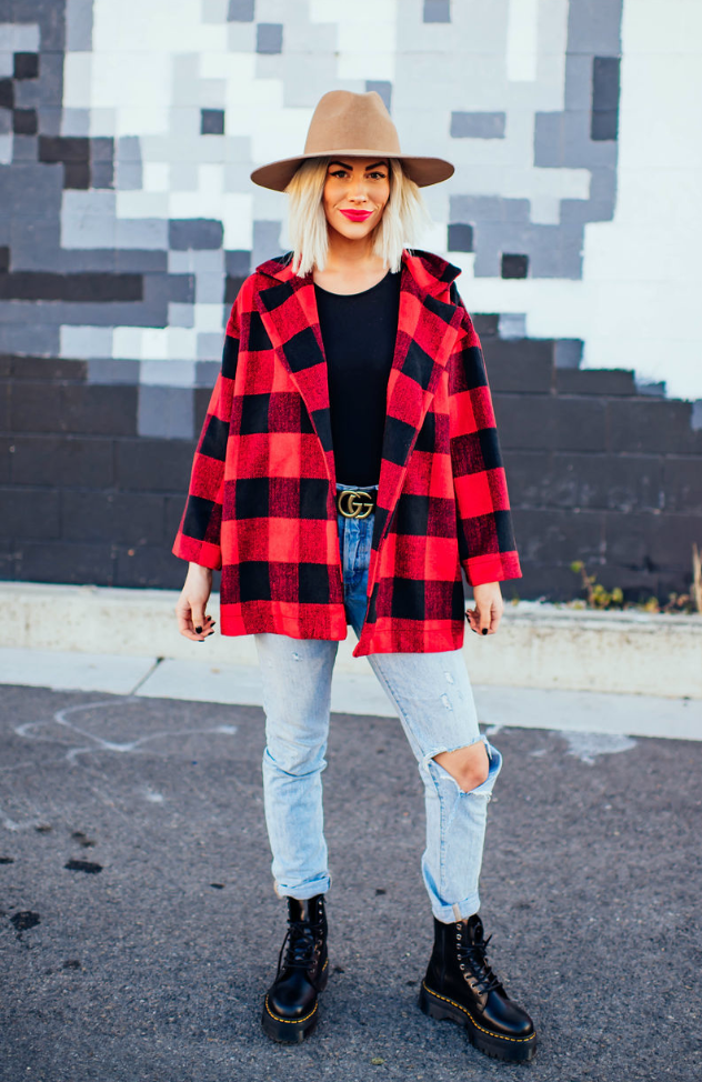Lucy Buffalo Plaid Coat