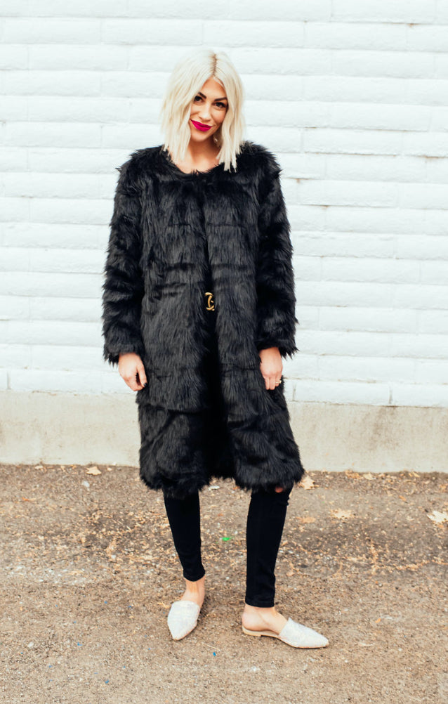 Joanne Luxe Faux Fur Coat
