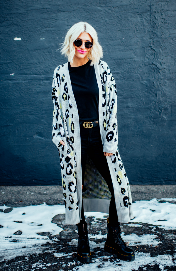 City Chic Leopard Cardigan
