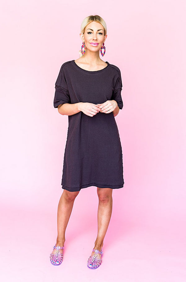 Coast to Coast Dress in Charcoal