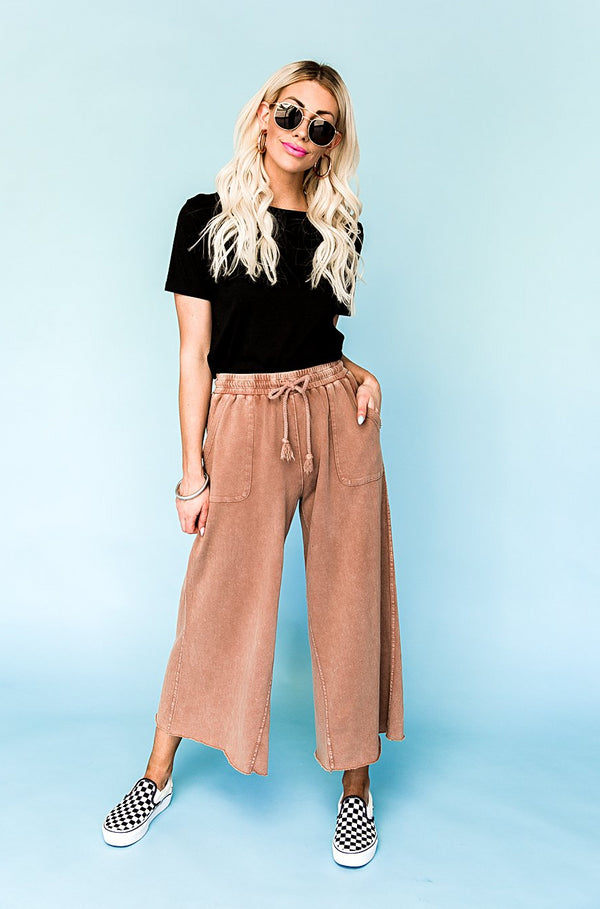 Weekend Plans Wide Leg Pants