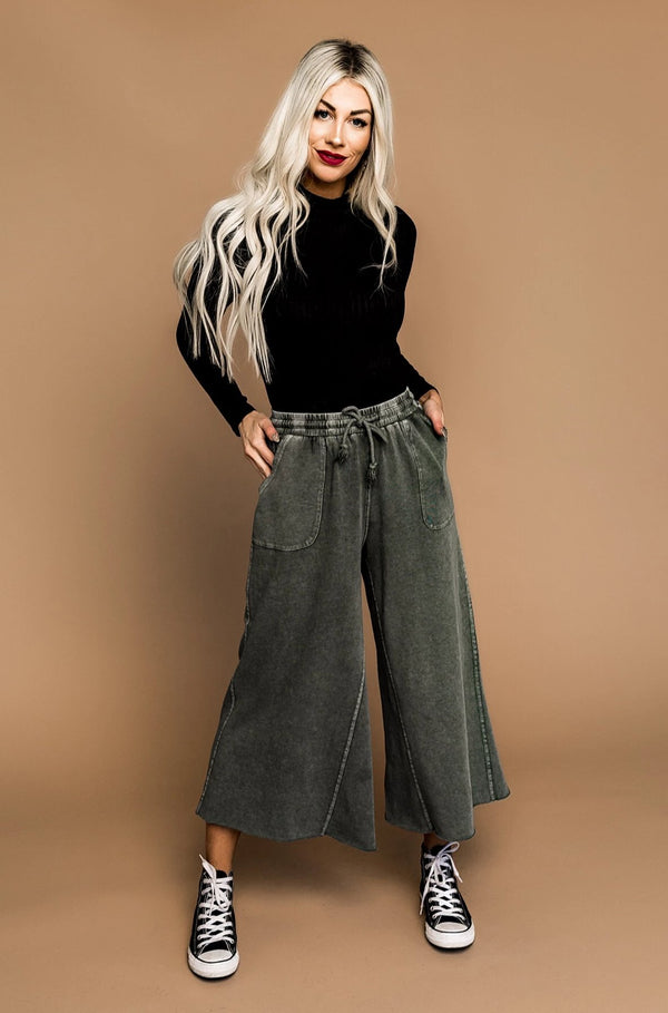 Weekender Wide Leg Pants in Sage