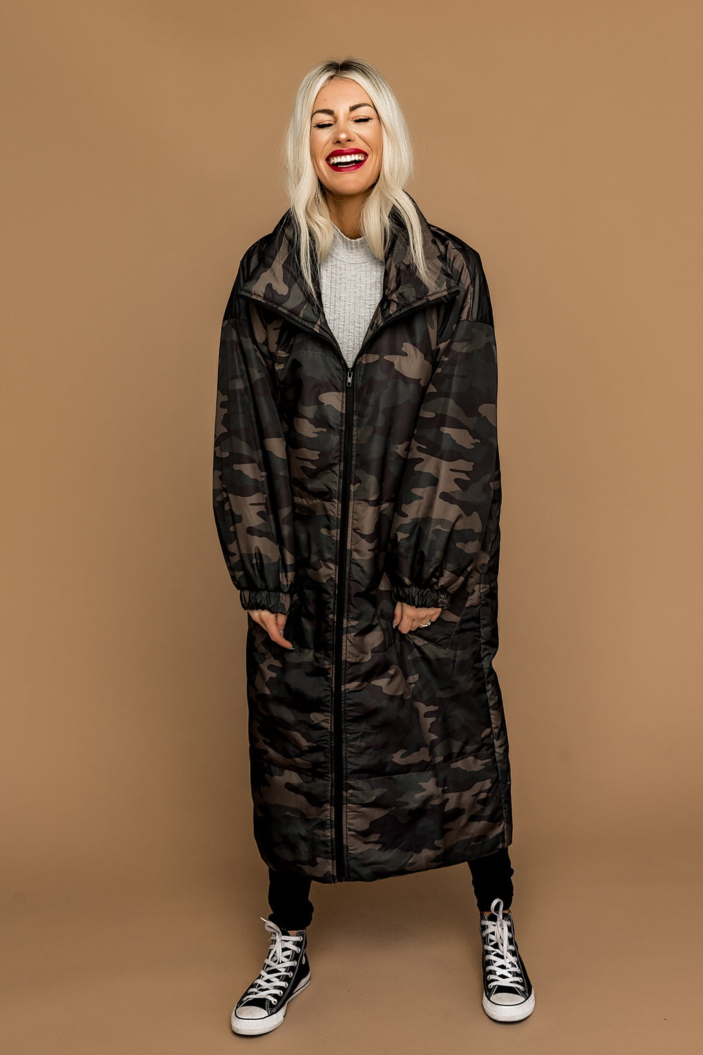 Cool Camo Oversized Puffer