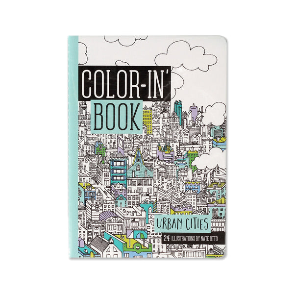 Urban Cities Color In Book