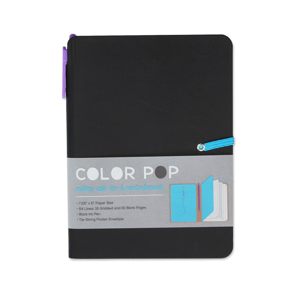 Color Pop All-in-One Notebook - Black