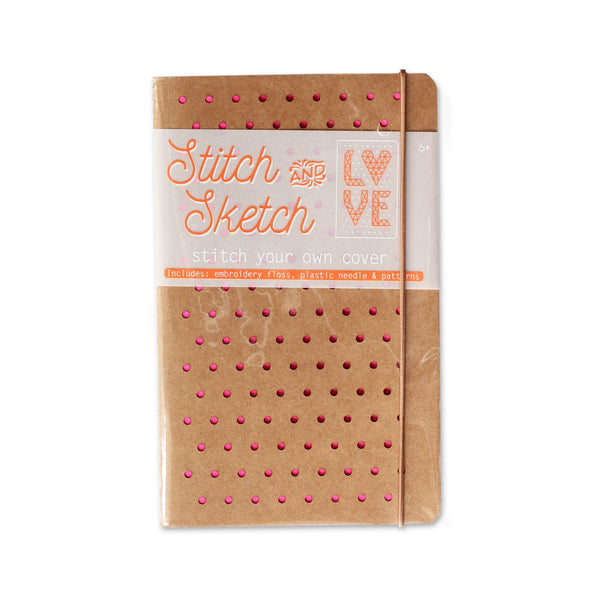 Stitch and Sketch DIY Sketchbook - Pink