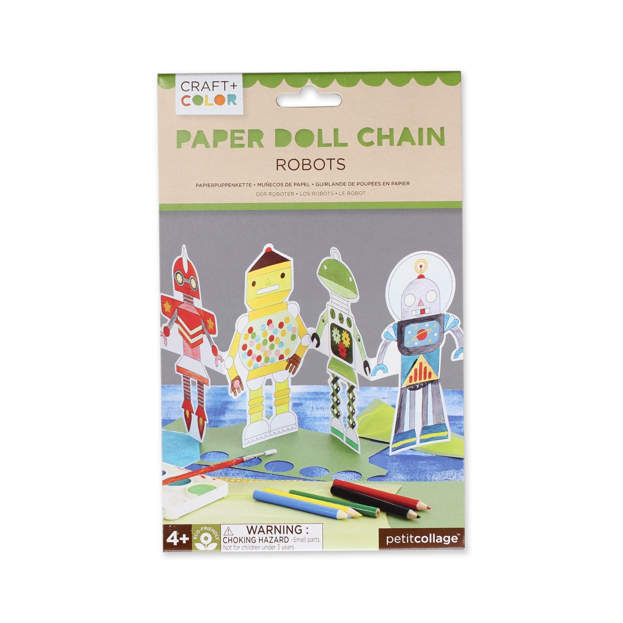 Robots Paper Doll Chain