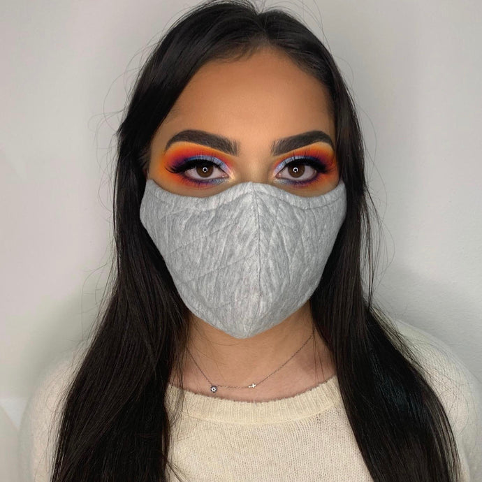 Quilted Grey Face Mask