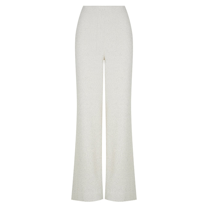 Dawn Pant Cream Tweed