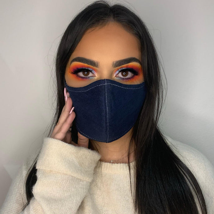 Navy Denim Face Mask